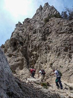 Hiking, People, Mountains, Mountains Of Alicante