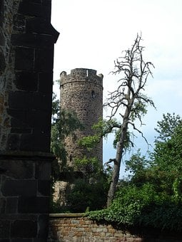 Tower, Castle, Fortress, Tree, Ruin, Dead Tree, Old