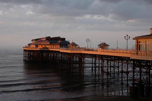 Cromer, Pier, Sunset, Sea