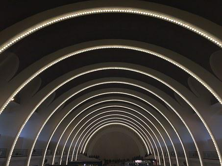 Shanghai Exhibition Center, Auditorium, Curved Dome