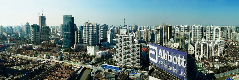 Panorama, Shanghai, Big City, China, Building