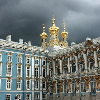 Catherine's Palace, St Petersburg, Russia, Thunderstorm