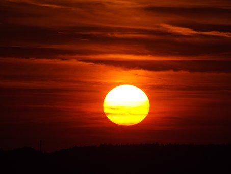 Sunset, Evening, Evening Sky, Oberschönenfeld