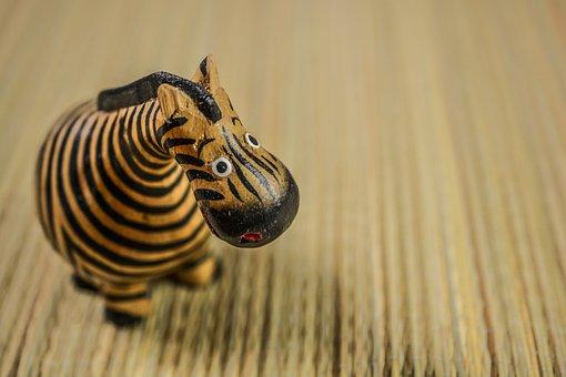 Zebra, Toy, Wooden, Figure, Animal, Cute, African, Wood