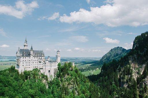 Neuschwanstein, Castle, Bavaria, Germany, Landmark