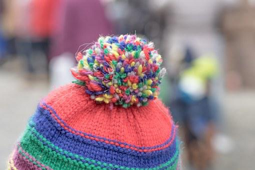Cap, Fabric, Cold, Bobble, Tip, Background