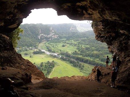 Cave, Landscape, Puerto Rico, Cave Windows