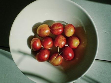 Cherries, Cherry, Cherries On A Plate, Plate, Sweet