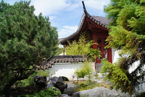 Chinese, Home, Green, Chinese Home, Tea House, Park