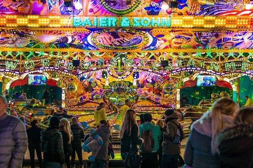 Amusement Park, Bright, Carnival, City, Colorful