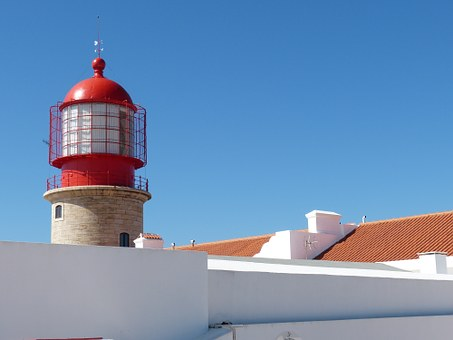 Lighthouse, Portugal, Coast, Sea, Security, Algarve