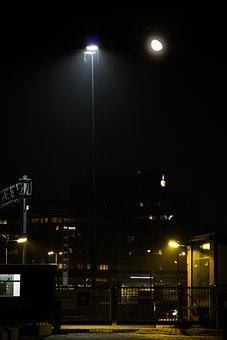 Night, Construction, Construction Site, Light, Lamp