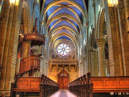 Switzerland, Church, Decor, Architecture, Hdr, Ceiling