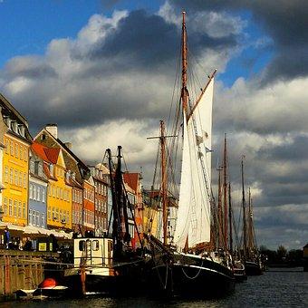 Copenhagen, Denmark, Canal, Europe, Travel, Danish