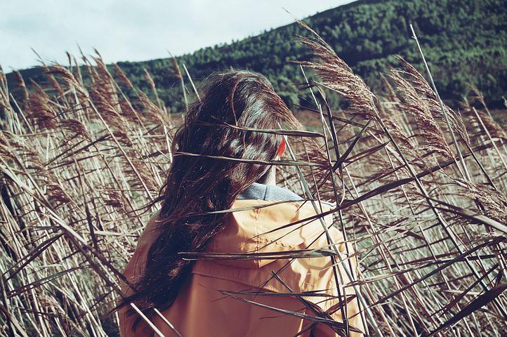 Girl, Woman, Nature, Outdoors, Plants, Field, Landscape
