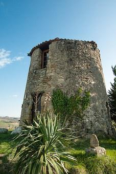 France, Lala, Old Mill, Ruin, Village, South Of France