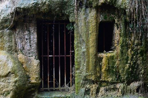 Cage, Door, Window, Grille, Old, Stone, Mountain