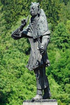 Holy Nepomuk, Bridge Saint, Bronze Sculpture