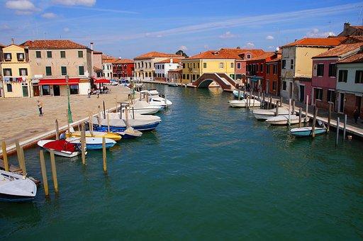 Italy, Veneto, Venice, Murano, Channel