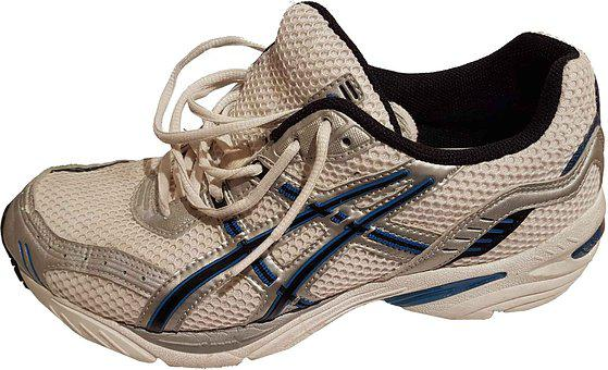 Running Shoe, Left Foot, Unlaced, Male, Isolated, White