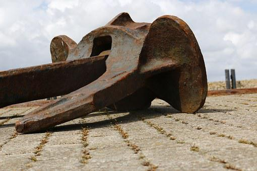 Anchor, North Sea, Ship, Quay Wall, Port, Stainless