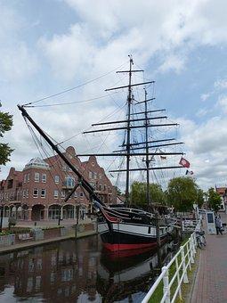 Papenburg Germany, Lower Saxony, Ship, Sailing Vessel
