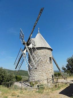 Mill, Pierre, South, France, Architecture, Wind Mill