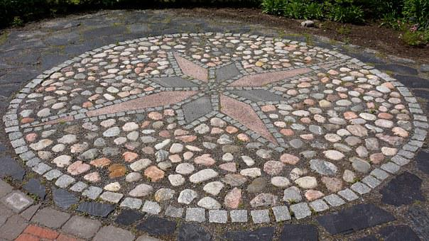 Points Of The Compass, Stone Work, Paving Stones