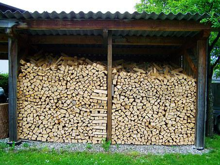 Wood Columns, Storage Timber, Ripped Firewood