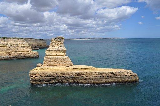 Rocks, Island, The Coast, The Atlantic Ocean, Portugal