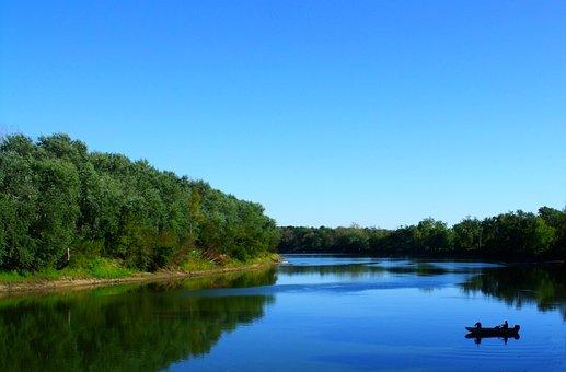 Wabash, River, Fishing, Water, Boat, Country, Rural