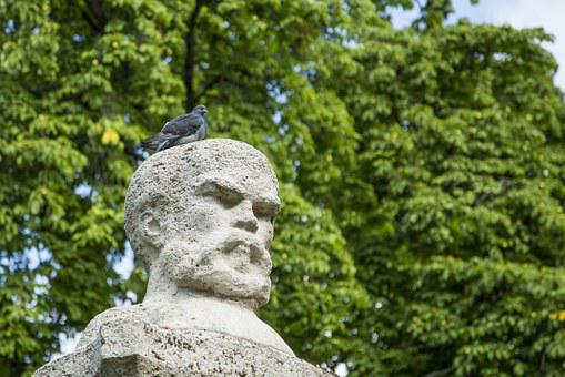 Pigeon, Xiao Niao, Thinking, Sculpture, Statue