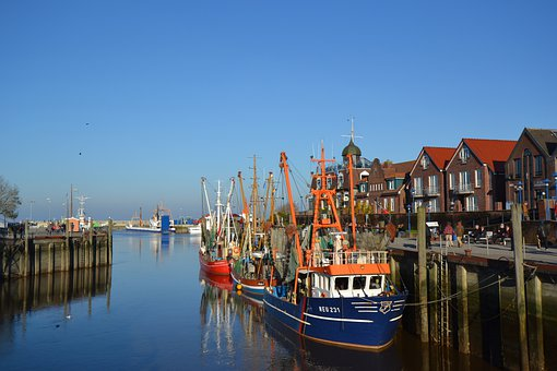 Port, Water, Ship, Sky, Blue, Quay Wall, North Sea