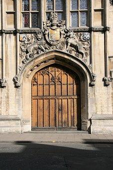 Oxford, England, Door, Uk, Architecture, Oxfordshire