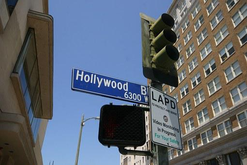 Hollywood, Street Sign, Los Angeles, America