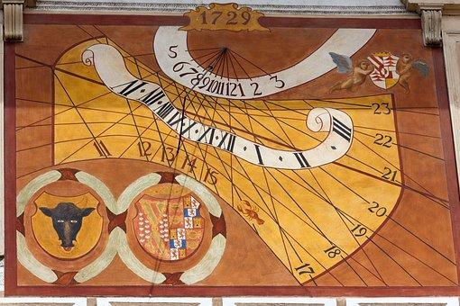 Vintage, Dial, Ancient, Old, Czech Republic, Unesco