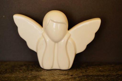 Angel, Abstract, Modern, White, Guardian Angel, Protect