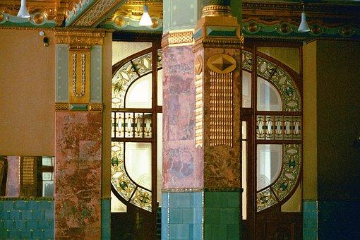 Art Nouveau, Window, Architecture, Entrance Foyer