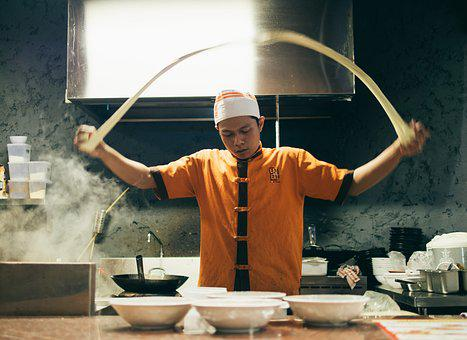 Asian Cuisine, Chef, Cooking, Cookware, Employee, Food