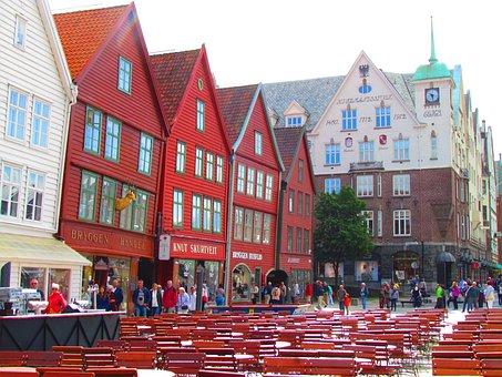 Bergen, Norway, Bryggen District, Travel, Europe, City