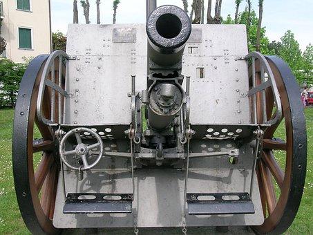 Cannon, Austrian Cannon, World War I, Merate