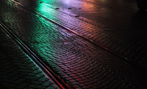 Wet, Road, Railroad, Street, City, Life, Asphalt