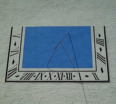 Clock, Sundial, Castle Augustusburg, Augustusburg