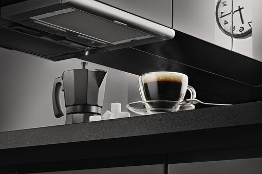 Clock, Coffee, Coffee Maker, Cup, Dark, Espresso
