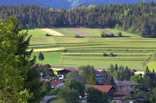 Austrian Landscape, Cultivation, Agriculture, Hill