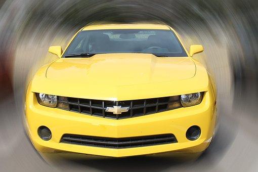 Car, Camero, Vehicle, Yellow, Automobile, Drive