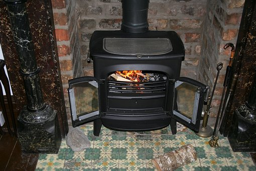 Fireplace, Wood Burning Stove, Flame, Fire, Glow
