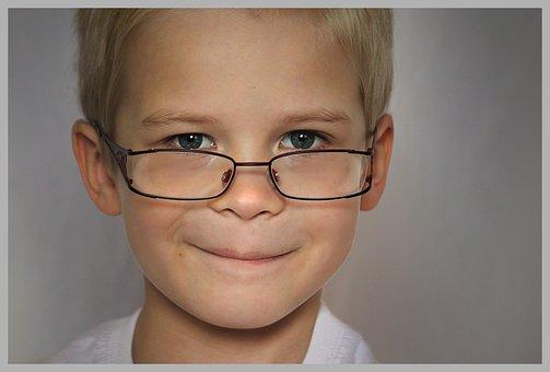 Smart, Child, Clever, Intelligent, Glasses