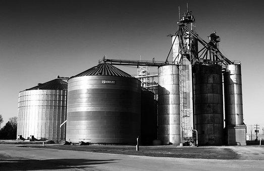 Ragan, Nebraska, Grain Elevator, Rural, Silos
