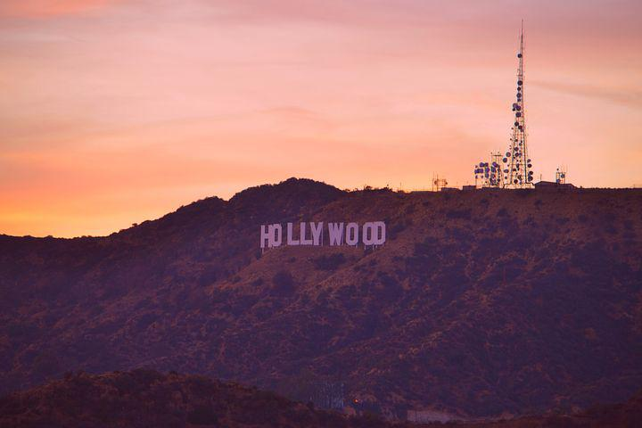 Hollywood Sign, Los Angeles, America, Mountains